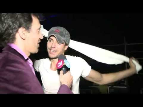 Enrique Iglesias video Entrevista Argentina - Estadio Geba 2015