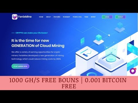FenixMine.com отзывы 2019, обзор, mining cryptocurrency, 1000 GHS Free Bouns  0.001 Bitcoin Free