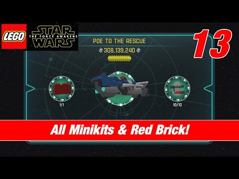 Lego Star Wars: The Force Awakens | ALL MINIKITS + RED BRICK | Poe to the Rescue | Commented