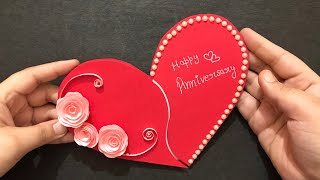 Handmade Anniversary Card | Anniversary Gift Ideas | Heart Shape Greeting Card