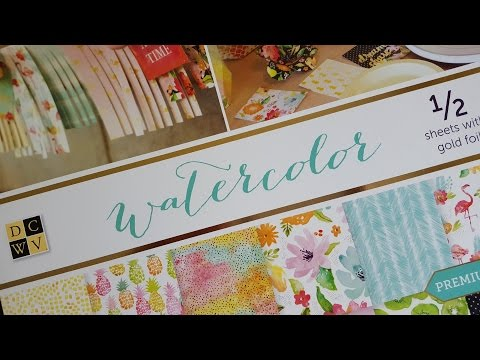 Haul Filofax DCWV Watercolour Designpapier Block,  DCWV Paper Stack