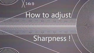 The Best Sharpness settings for projectors and TV