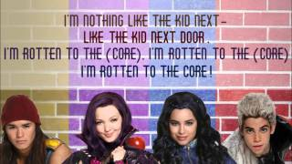 DISNEY DESCENDANTS: ROTTEN TO THE CORE LYRICS