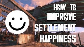 How to Improve Settlement Happiness - Fallout 4