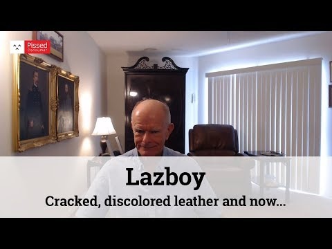 Lazboy - Cracked, discolored leather and now a gaping hole through the headrest