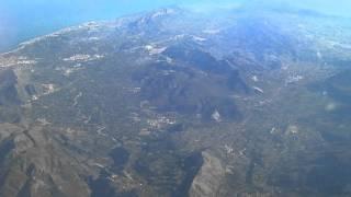 flying over benidorm, spain