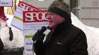 Le SPGQ manifeste en appui à Louis Robert