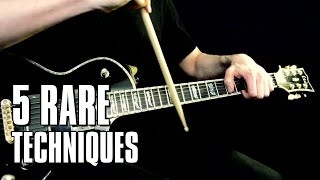 5 rare guitar techniques just for fun
