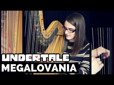 Megalovania - Undertale Harp Cover + SHEET MUSIC - смотреть