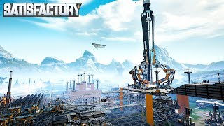 UNLOCKING TIER 5 OIL PRODUCTION FROM THE SPACE ELEVATOR IN SATISFACTORY - Satisfactory Gameplay