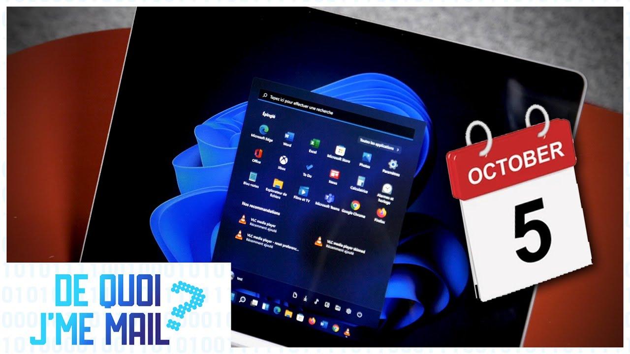 Windows 11 arrive le 5 octobre avec des nouveautés DQJMM (1/2)