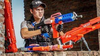 LTT Game Nerf War : Winter Warriors SEAL X Nerf Guns Fight One-Eyed Gang Rocket