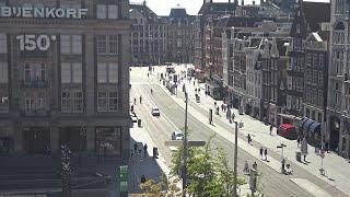 Webcam Live Damrak beursplein Amsterdam