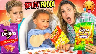 BABY Milan Eats SPICY FOOD for the FIRST TIME!! (Only 11 Months Old) | The Royalty Family