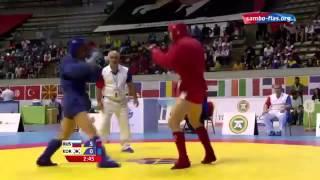 World Combat Sambo championship 2015 82kg.Alexey Ivanov (RUS) - Ko Seok Hyeon (KOR)