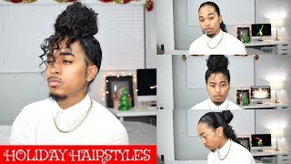 Quick Holiday Hairstyles For Long Curly Hair | Mens Hairstyles