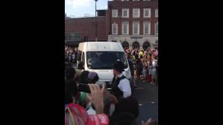 preview picture of video 'Olympic Torch travells through Wood Green, London. UK'