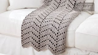 Crochet Spaced Ripples Blanket Pattern
