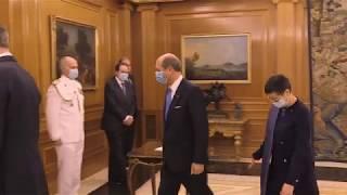 Presentación de cartas credenciales, embajador de la República Italiana