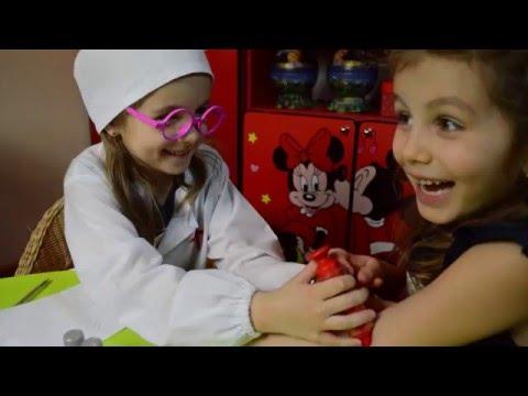 Визит к врачу.Распаковка игрушки.МикроскопЛаборатория.Детская играДетский канал расти  вместе с нами