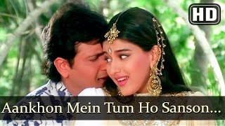 Aankhon Mein Tum Ho  Aag 1994 Govinda  Sonali Bendre  Kumar Sanu  Bollywood Songs  Filmigaane