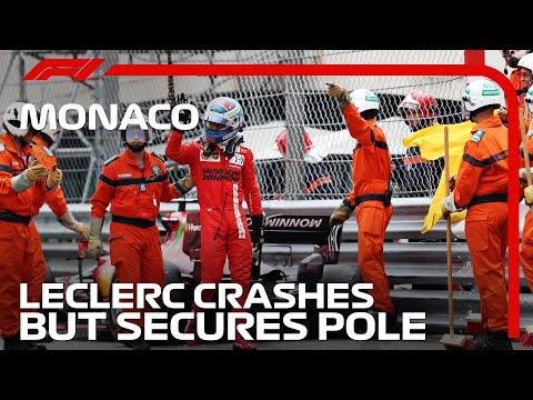 攻めすぎたルクレールがガードレールにタイヤをヒット。衝撃のクラッシュ動画 F1モナコGP 予選のハイライト動画