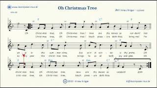 o christmas tree sheet music lyrics chords karaoke
