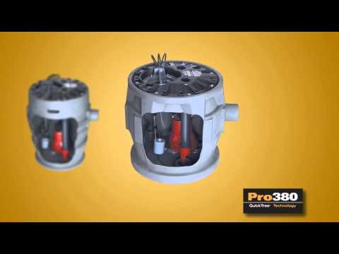 Liberty Pro370-Series Pre-Packaged Sewage Pump System with 1/2 HP Sewage Ejector Pump Video