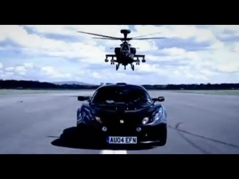 Lotus Exige Review with Apache Helicopter Gunship – Top Gear – BBC
