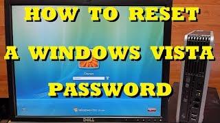 How to Reset a Password in Windows Vista
