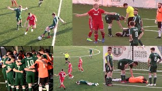 IRISH VS POLISH! COACH EJECTED, BANISHED TO EXILE! KEEPER BLUDGEONED IN BRUTAL SHOVE! GREAT GAME!
