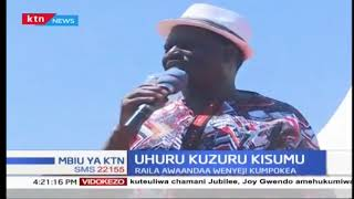 Raila Odinga Kisumu kwa maandalizi ya kumpokea Rais Kenyatta Kisumu