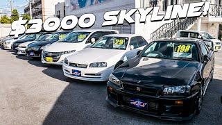 I FOUND THE CHEAPEST NISSAN SKYLINE IN THE WORLD AT A DEALERSHIP IN JAPAN!