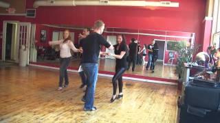Ivana Adler and Kyle Culmann Salsa social dancing in Indianapolis