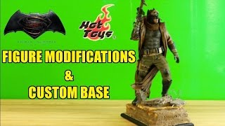 Hot Toys 1/6 Knightmare Batman Modifications & Custom Themed Base- Custom Collectables!