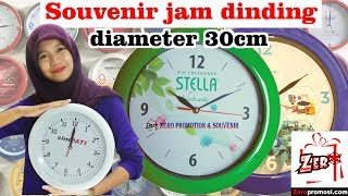 Review Souvenir jam dinding diameter 30cm