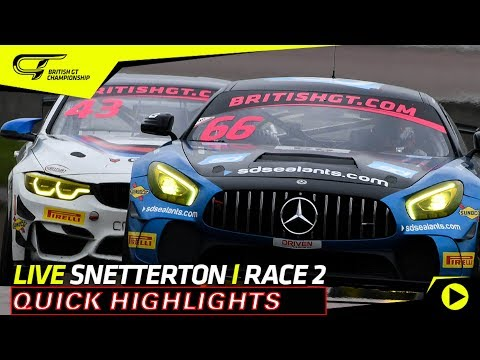 Short Highlights - Race 2 - Snetterton 2018 - British GT
