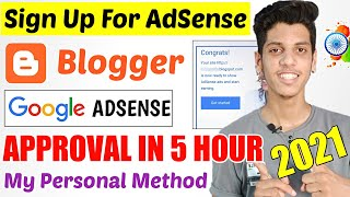🔥Blogger Google AdSense Approval Method 2021 | How to Link Blogger To Google AdSense Trick