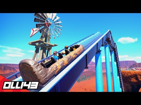 Building the Greatest Log Flume Ride in Planet Coaster.. (Planet Coaster Area 43)