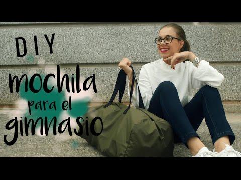 DIY~ Como hacer una mochila para el gimnasio/ Bolso de viaje