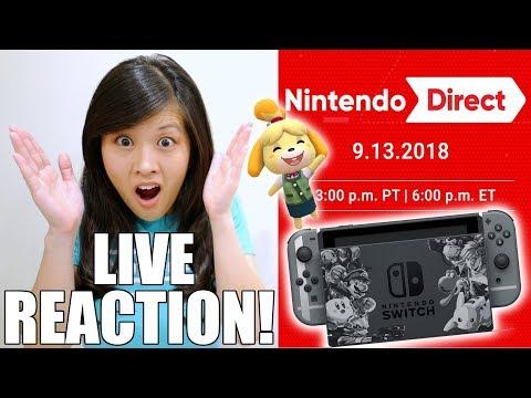 LIVE REACTION! Nintendo Direct 9.13.2018 (видео)