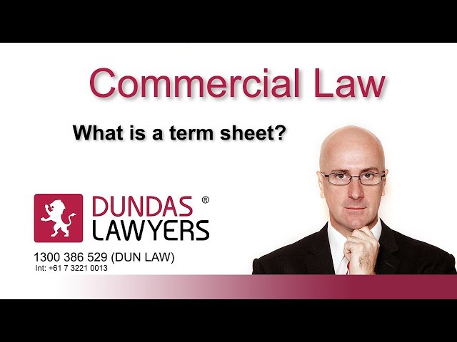 What is a term sheet