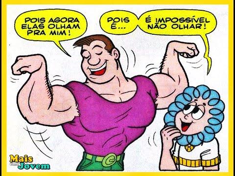 Rolo em  Mister Músculos | Quadrinhos Turma da Mônica Mais Jovem