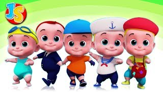 Five Little Babies jumping On The Bed | Best Nursery Rhymes and Kids Songs | Children Rhyme