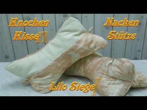 Nackenstütze Knochenkissen Kissen selber nähen - Lilo Siegel