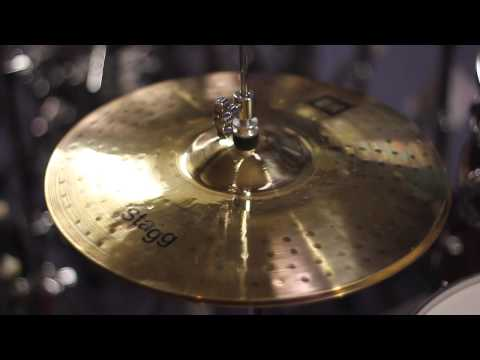 """Stagg DH Dual Hammered 14"""" Hi Hats Demo   PMT"""