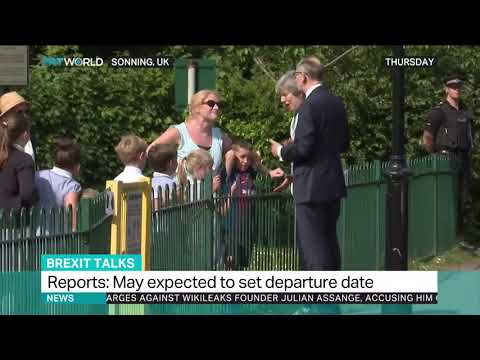 British PM May expected to set departure date