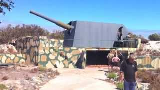 "Mark VII Naval 9.2"" Gun on Robben Island, Cape Town, South Africa"
