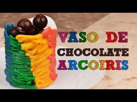 Vaso Chocolate Arcoiris