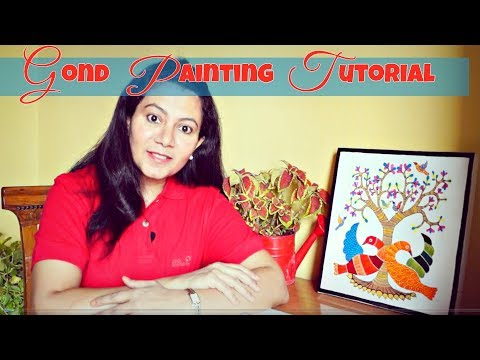 gond painting tutorial for beginners by disha mishra dubey